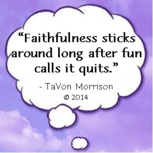 Cloud - Faithfulness sticks around long