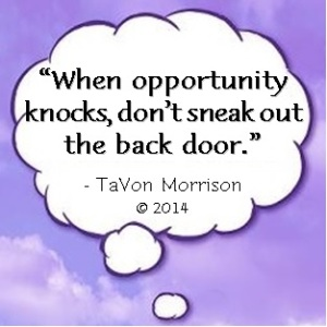 Cloud - When opportunity knocks don't