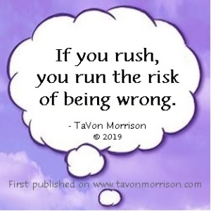 Just A Thought by TaVon Morrison